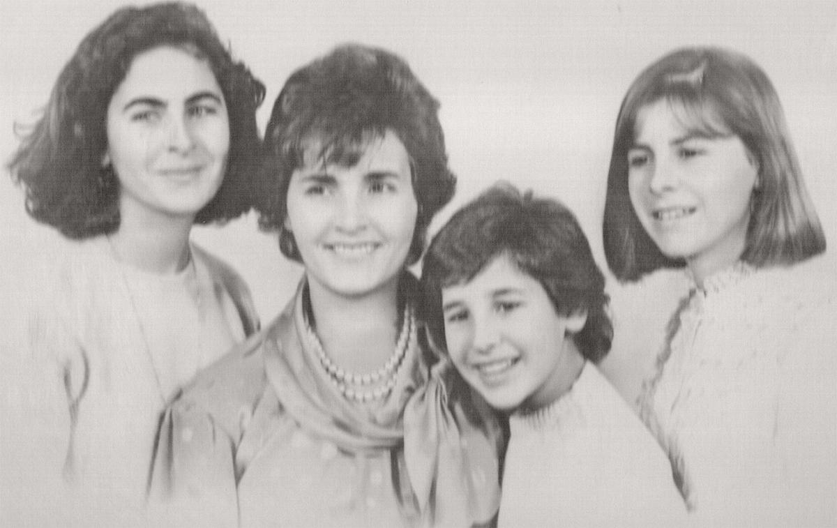 Angela La Cava with her three daughters.